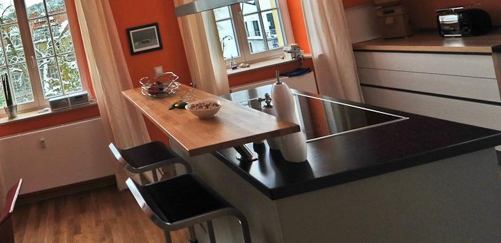 Küchen mit esstheke  produkte - küche ◦ kunst + wohnen land GmbH